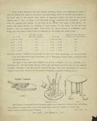 Advert For Lyle's Portable Folding Table reverse
